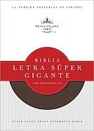Imagen Biblia Letra Súper Gigante con Referencias - Imitación Piel Color Chocolate