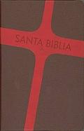 Imagen Biblia Letra Grande -  Imitación Piel Color Marrón y Rojo